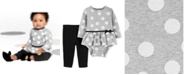 Carter's Baby Girls 2-Pc. Cotton Dot-Print Skirted Bodysuit & Pants Set