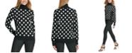 DKNY Sequined Polka-Dot Sweater