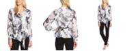 Vince Camuto Floral-Print Asymmetrical Peplum Top