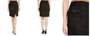 Anne Klein Faux-Suede Wrap Skirt