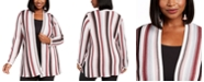 INC International Concepts INC Plus Size Striped Duster Cardigan, Created For Macy's