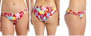 California Waves Juniors' Tropic Printed Strappy-Side Hipster Bikini Bottoms, Created For Macy's