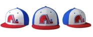 Authentic NHL Headwear Quebec Nordiques Tri-Color Throwback Snapback Cap