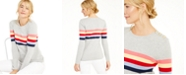 Charter Club Shoulder Button Striped Sweater, Created For Macy's