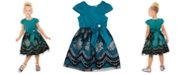 Rare Editions Toddler Girls Glitter-Print Bow Dress