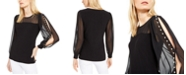 INC International Concepts INC Faux-Pearl-Sleeve Top, Created For Macy's