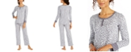 Ellen Tracy Animal-Print Pajamas Set
