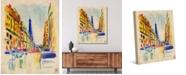 "Creative Gallery Colorful Rue De Paris 24"" x 20"" Canvas Wall Art Print"