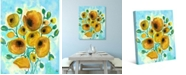 """Creative Gallery Summer Harmony Flowers in Yellow 20"""" x 16"""" Canvas Wall Art Print"""