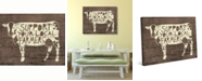 """Creative Gallery Rustic Cow Local Farmers Sign 36"""" x 24"""" Canvas Wall Art Print"""