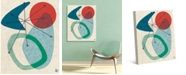 "Creative Gallery Retro Boomerang Sun Sea 24"" x 20"" Canvas Wall Art Print"