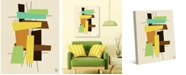 """Creative Gallery Brick a Brack in Citrus Yellow, Lime Brown 36"""" x 24"""" Canvas Wall Art Print"""