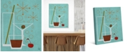 "Creative Gallery Retro Drinks Astrobursts on Aqua 36"" x 24"" Canvas Wall Art Print"