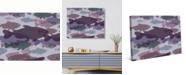 "Creative Gallery Retro Fishy Silhouettes Mauve Purple 24"" x 20"" Canvas Wall Art Print"