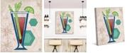 "Creative Gallery Retro Bloody Mary on Tan 36"" x 24"" Canvas Wall Art Print"