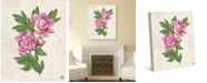 """Creative Gallery Dried Pink Carnation on Paper-pattern 36"""" x 24"""" Canvas Wall Art Print"""