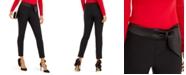 INC International Concepts INC Petite Bow-Waistband Skinny Pants, Created For Macy's