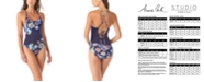 Anne Cole Holiday Paisley Cross-Back One-Piece Swimsuit