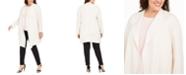 Anne Klein Plus Size Melange Drape-Front Cardigan