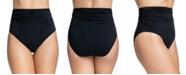 Profile by Gottex Tutti Frutti Ruched High-Waist Bikini Bottoms
