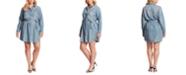 Jessica Simpson Trendy Plus Size Nyra Denim Shirtdress