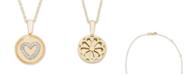 Macy's Diamond (1/16 ct. t.w.) Heart Pendant in 14k Yellow or Rose Gold