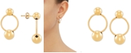 Macy's Twisted Hoop Doorknocker Drop Earrings in 14k Gold