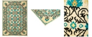 """Timeless Rug Designs CLOSEOUT! One of a Kind OOAK1311 Turquoise 4'1"""" x 5'10"""" Area Rug"""