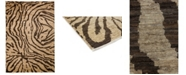 "Timeless Rug Designs CLOSEOUT! One of a Kind OOAK3731 Mocha 6'5"" x 9'4"" Area Rug"