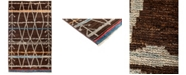 """Timeless Rug Designs CLOSEOUT! One of a Kind OOAK3073 Brown 4'10"""" x 8' Area Rug"""