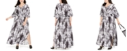 INC International Concepts INC Plus Size Tie Dye Kimono-Sleeve Maxi Dress, Created for Macy's