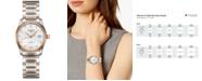 Longines Women's Swiss Automatic Master Diamond (1/20 ct. t.w.) 18k Rose Gold & Stainless Steel Bracelet Watch 29mm
