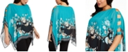JM Collection Plus Size Printed Poncho Top, Created For Macy's