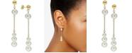 Macy's Cultured Freshwater Pearl Dangle Drop Earrings (4-8mm) in 14k Gold