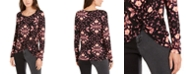 INC International Concepts INC Petite Printed Twist-Front Top, Created For Macy's
