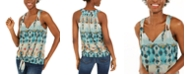 INC International Concepts INC Printed Tie-Front Tank Top, Created For Macy's