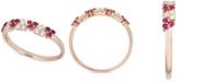 Macy's Certified Ruby (1/2 ct. t.w.) & Diamond (1/2 ct. t.w.) Ring in 14k Rose Gold