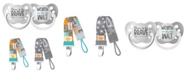 Ulubulu Dream Collection Born Brave and Worth Wait Pacifiers with Stardust and Block Letters Pacifier Clip Bundle