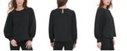 Calvin Klein Textured Button-Cuff Blouse