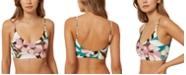 O'Neill Juniors' Calla Printed Bralette Midkini Top, Created For Macy's