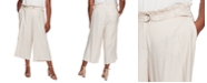 CeCe Plus Size Belted Cropped Pants