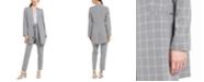 Calvin Klein Windowpane Topper, Ruffled Blouse & Windowpane Belted Pants
