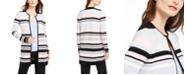 Calvin Klein Colorblocked Striped Cardigan