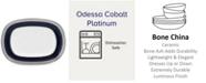 Noritake Odessa Cobalt Platinum Butter/Relish Tray