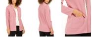 Nine West Kiss-Front Cardigan Sweater Blazer