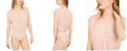 Bar III Surplice-Neck Thong Bodysuit, Created for Macy's