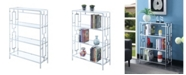 Convenience Concepts Town Square Chrome 4 Tier Bookcase