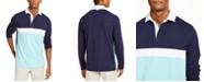 Club Room Men's Chest Stripe Long Sleeve Polo Shirt, Created for Macy's