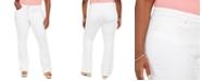 Jessica Simpson Trendy Plus Size Adored High-Rise Flare-Leg White Jeans