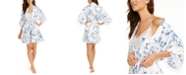 Linea Donatella Aviary Floral-Print Wrap Robe